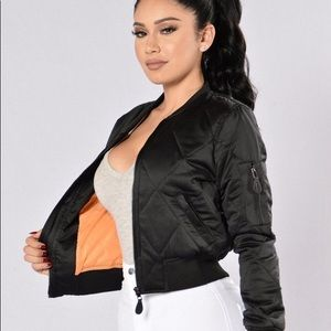 Fashionnova black bomber jacket